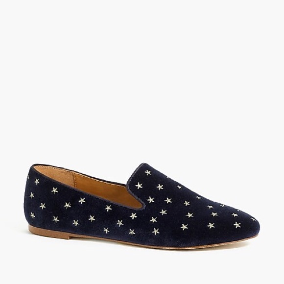 J.Crew Embroidered Loafer Slippers NWT